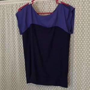 Limited purple and navy blouse